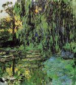 Клод Моне Плакучая ива и пруд с водяными лилиями 1919г