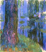 Клод МонеПлакучая ива и пруд с водяными лилиями 1919г