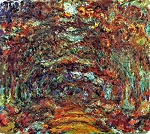 Клод Моне Розовая тропинка, Живерни 1922г
