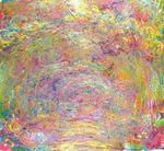 Клод Моне Тропинка под розовой аркой 1924г