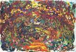 Клод Моне Тропинка под розовой аркой, Живерни 1922г
