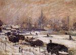 Клод Моне Амстердам в снегу 1874г