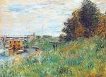 Клод Моне Берега Сены у аржантёйского моста 1874г
