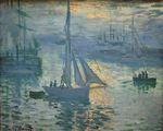 Клод Моне Восход солнца. Море 1873г
