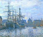Клод Моне Гавр. Торговая гавань 1874г