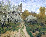Клод Моне Деревья в цвету 1872г