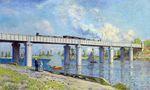 Клод Моне Железнодорожный мост в Аржантёе 1873г 97х58