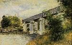 Клод Моне Железнодорожный мост в Аржантёе 1874г 23х14 Musée Marmottan, Paris, France