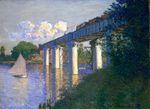 Клод Моне Железнодорожный мост в Аржантёе 1874г