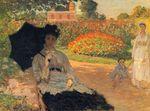 Клод Моне Камилла Моне в саду 1873г