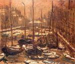 Клод Моне Канал Гельдерсекаде в Амстердаме. Зима 1874г