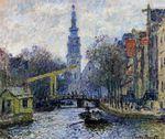 Клод Моне Канал в Амстердаме 1874г