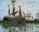 Клод Моне Корабли в гавани 1873г