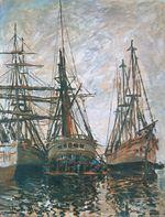 Клод Моне Лодки на ремонте 1873г