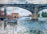 Клод Моне Мост в Аржантёе, пасмурная погода 1874г