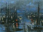 Клод Моне Порт в Гавре, ночной эффект 1873г