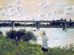 Клод Моне Прогулка близ моста в Аржантёе 1874г