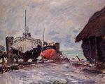 Клод Моне Рыбацкие лодки в Этрета 1873г