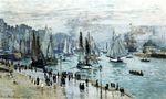 Клод Моне Рыбацкие лодки покидают гавань, Гавр 1874г