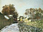 Клод Моне Снег в Аржантёе 1874г