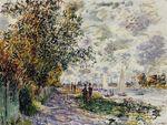 Клод Моне Берег реки у Пти-Женевильер 1875г