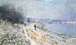 Клод Моне Буксирный путь в Аржантёе. Зима 1875г