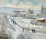 Клод Моне Вид Аржантёя в снегу 1875г