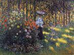 Клод Моне Женщина с зонтиком в саду Аржантёя 1875г