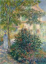 Клод Моне Камилла Моне в саду у дома в Аржантёе 1876г