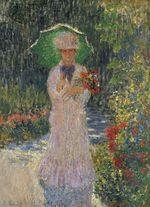Клод Моне Камилла с зеленым зонтиком 1876г