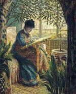 Клод Моне Мадам Моне вышивает 1875г