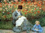Клод Моне Мадам Моне с ребенком в саду художника в Аржантее.