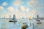 Клод Моне Море в Амстердаме 1874г