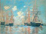 Клод Моне Море, порт в Амстердаме 1874г