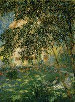 Клод Моне Отдых в саду, Аржантёй 1876г