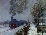 Клод Моне Поезд в снегу (локомотив)