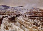 Клод Моне Поезд в снегу, Аржантёй 1875г 81х60cm