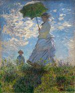Клод Моне Прогулка, женщина с зонтиком 1875г