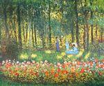 Клод Моне Семья художника в саду 1875г