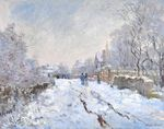 Клод Моне Снег в Аржантёе 1875г