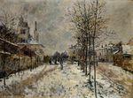 Клод Моне Снежный эффект, Бульвар де Понтуаз в Аржантёе 1875г