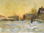 Клод Моне Снежный эффект, улица в Аржантёе 1875г