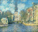 Клод Моне Южная церковь в Амстердаме 1874г