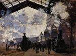 Клод Моне Вокзал Сен-Лазар, вид снаружи 1877г