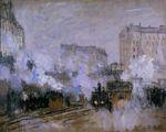 Клод Моне Вокзал Сен-Лазар, прибытие поезда 1877г