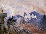Клод Моне Вокзал Сен-Лазар, рельсовый путь 1877г 60х80см