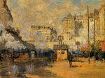 Клод Моне Вокзал Сен-Лазар, эффект солнечного света 1877г