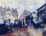 Клод Моне Европеский мост, вокзал Сен-Лазар 1877г 81х64 Musée Marmottan, Paris, France