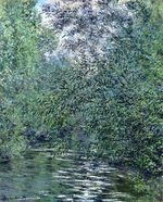 Клод Моне Ивы на реке 1876г