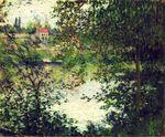 Клод Моне Остров Гранд-Жат сквозь деревья 1878г